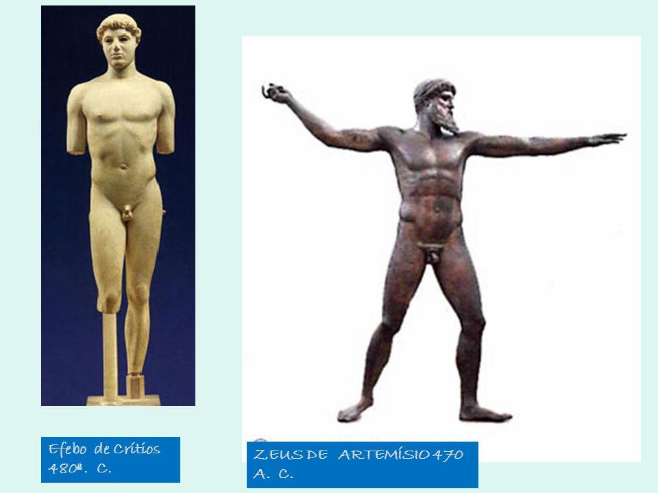ZEUS DE ARTEMÍSIO 470 A. C. Efebo de Crítios 480ª. C.