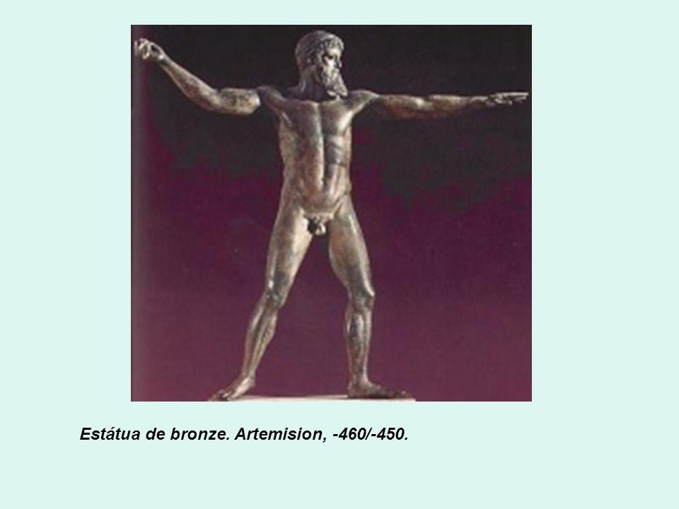 Estátua de bronze. Artemision, -460/-450.