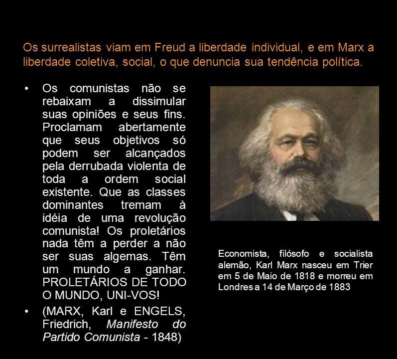 Economista, filósofo e socialista alemão, Karl Marx nasceu em Trier em 5 de Maio de 1818 e morreu em Londres a 14 de Março de 1883 Os comunistas não s