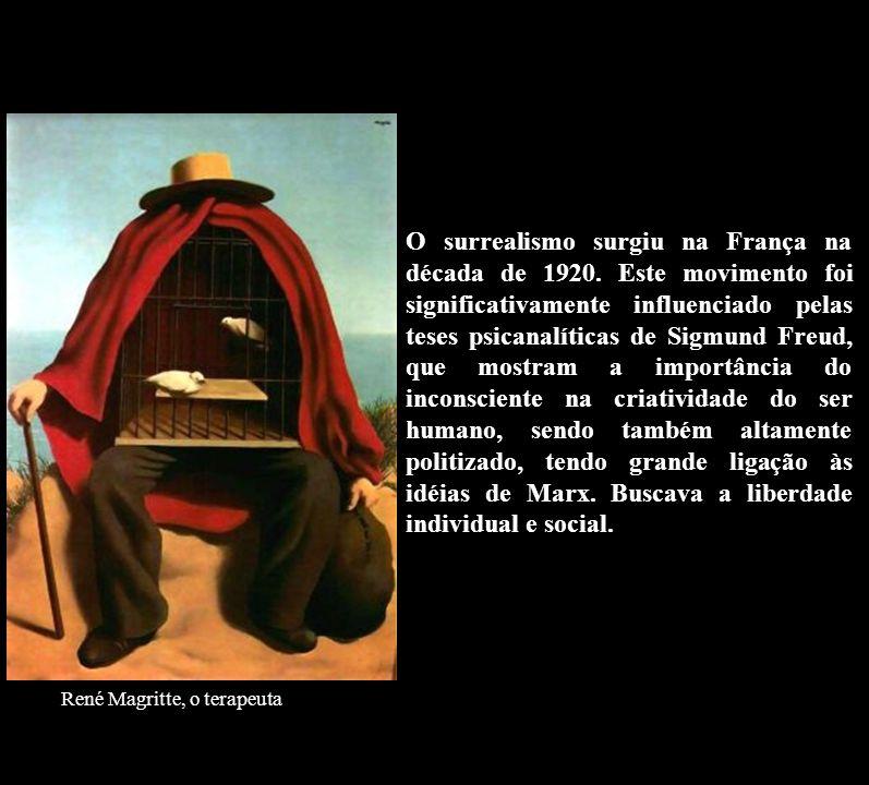 O surrealismo surgiu na França na década de 1920. Este movimento foi significativamente influenciado pelas teses psicanalíticas de Sigmund Freud, que