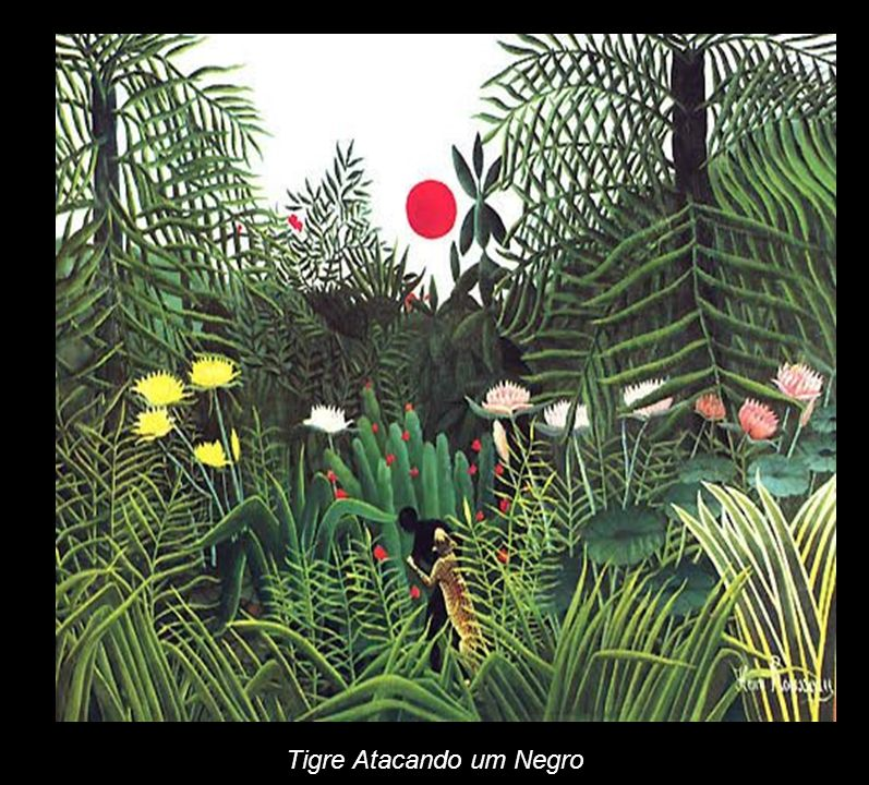 Tigre Atacando um Negro