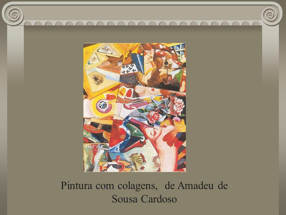 Pintura com colagens, de Amadeu de Sousa Cardoso