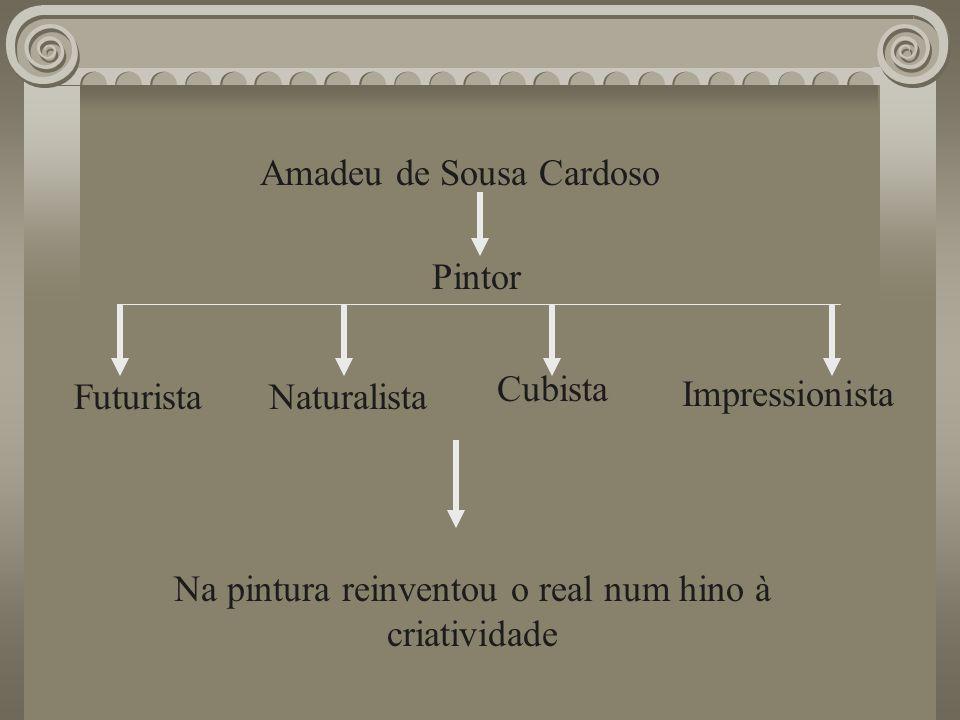 Amadeu de Sousa Cardoso Futurista Pintor Naturalista Cubista Impressionista Na pintura reinventou o real num hino à criatividade