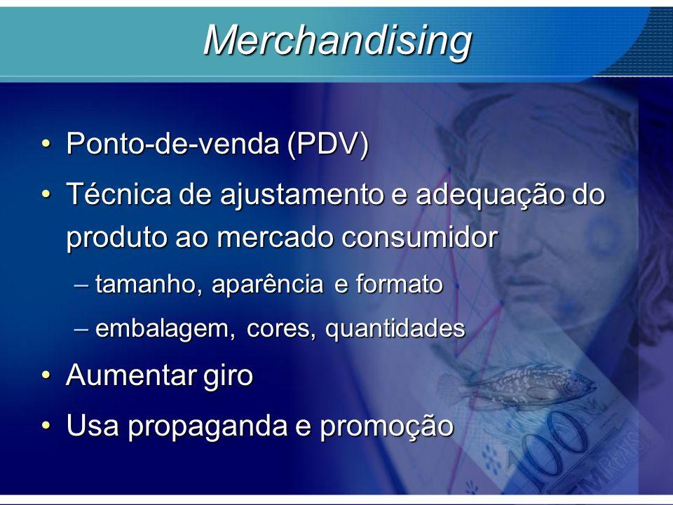 Merchandising Ponto-de-venda (PDV)Ponto-de-venda (PDV) Técnica de ajustamento e adequação do produto ao mercado consumidorTécnica de ajustamento e ade