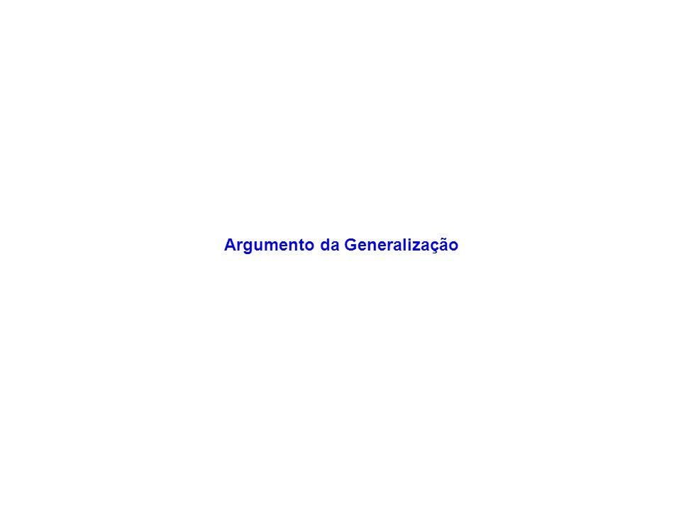 Argumento da Generalização