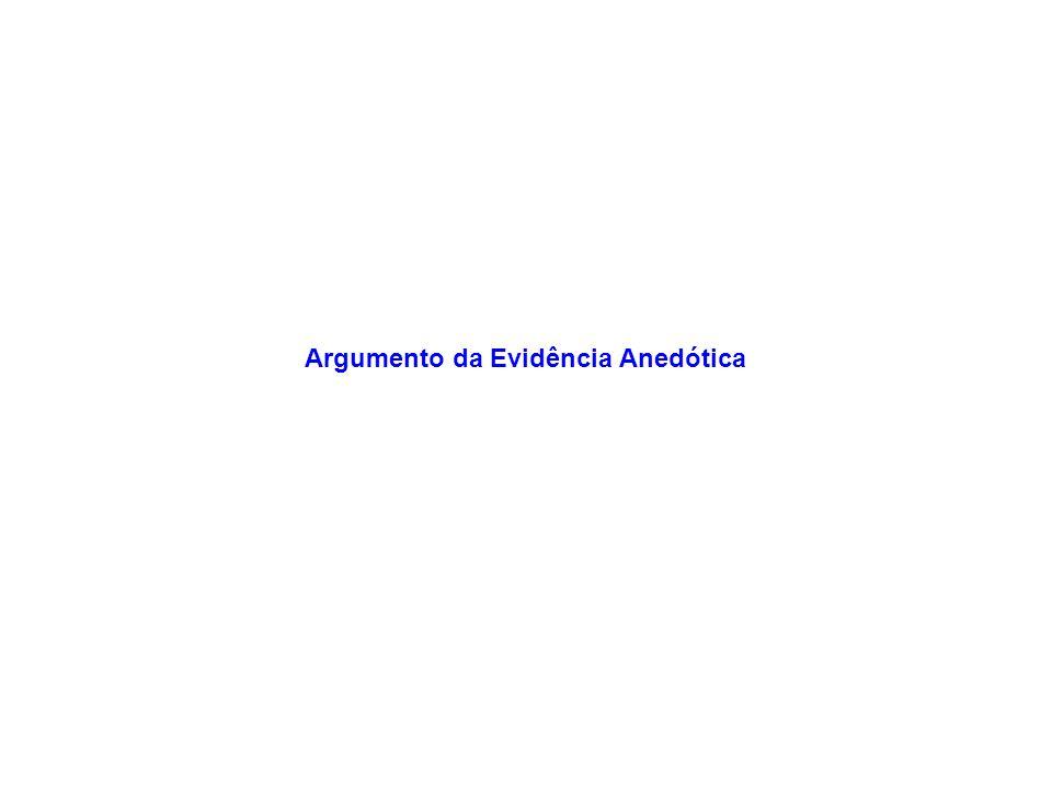 Argumento da Evidência Anedótica