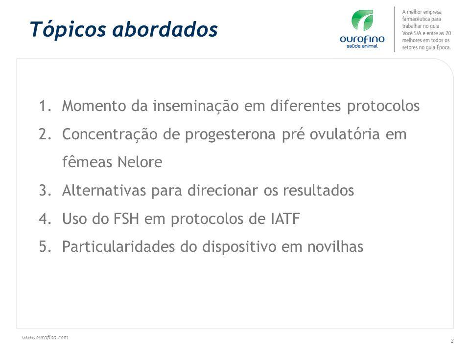 www.ourofino.com 43 TAXA DE OVULAÇÃO