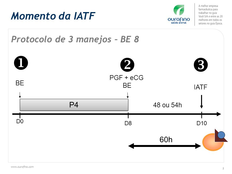 www.ourofino.com 46 Figure - Pregnancy rate by treatment (Control, eCG and FSH) in lactating beef cows submitted to FTAI.