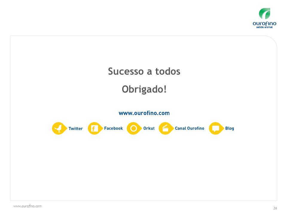 www.ourofino.com 36 Sucesso a todos Obrigado!
