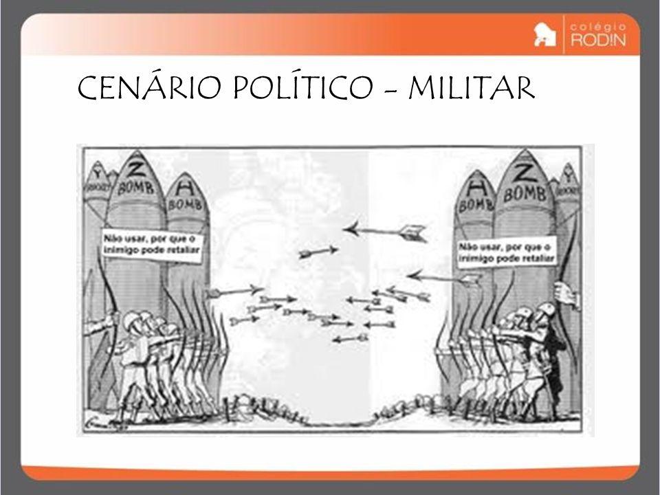IDADE CONTEMPORÂNEA GUERRA FRIA (1945 – 1989) CENÁRIO POLÍTICO - MILITAR