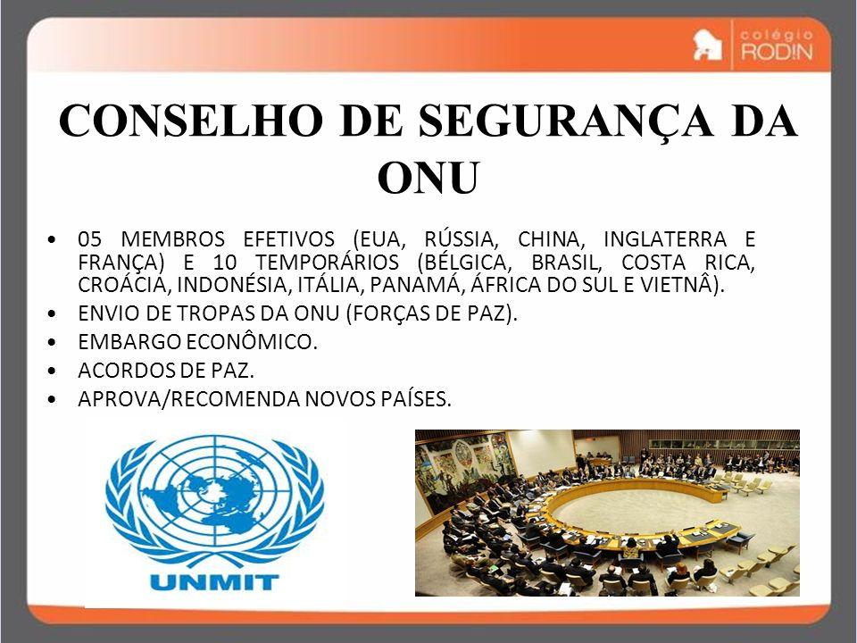 IDADE CONTEMPORÂNEA GUERRA FRIA (1945 – 1989) CONSELHO DE SEGURANÇA DA ONU 05 MEMBROS EFETIVOS (EUA, RÚSSIA, CHINA, INGLATERRA E FRANÇA) E 10 TEMPORÁR