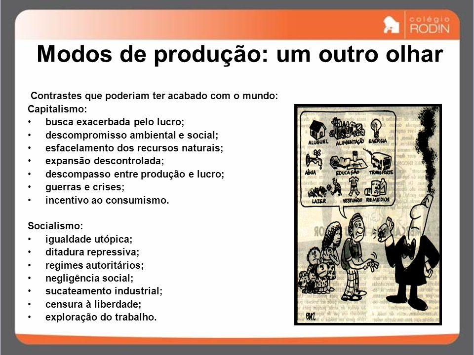 IDADE CONTEMPORÂNEA GUERRA FRIA (1945 – 1989) Modos de produção: um outro olhar Contrastes que poderiam ter acabado com o mundo: Capitalismo: busca ex