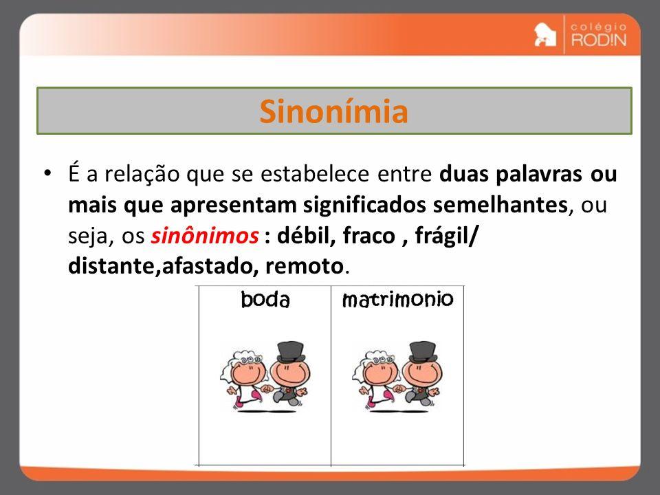 ASPECTOS SEMÂNTICOS Na língua portuguesa, o significado das palavras leva em consideração : SINONÍMIA; ANTONÍMIA; HOMONÍMIA; PARONÍMIA ; POLISSEMIA.