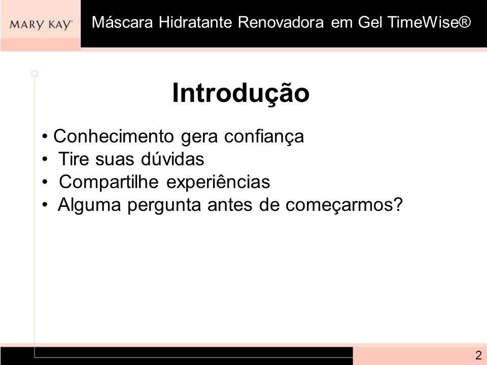 Pergunta: Qual a frequência que a Máscara Hidratante Renovadora em Gel TimeWise® deve ser utilizada.
