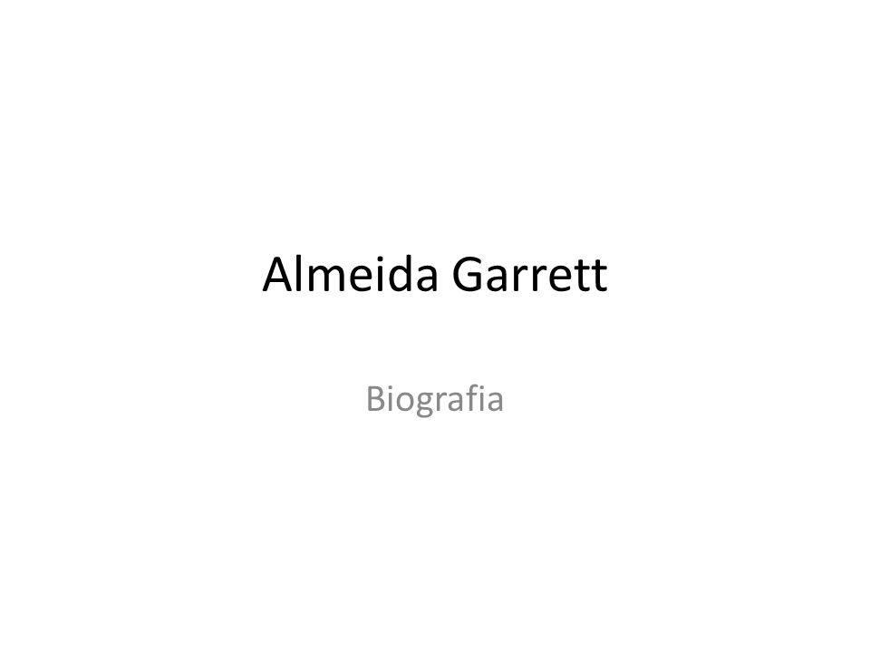 Almeida Garrett Biografia