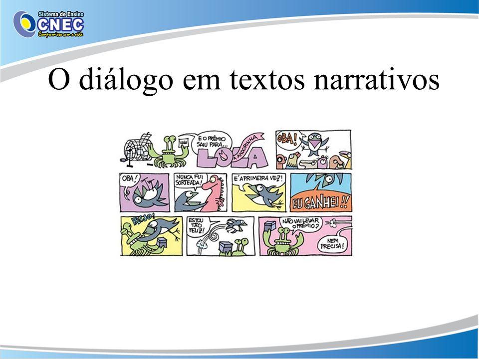 O diálogo em textos narrativos