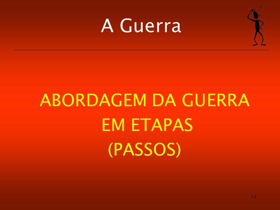 32 A Guerra ABORDAGEM DA GUERRA EM ETAPAS (PASSOS)
