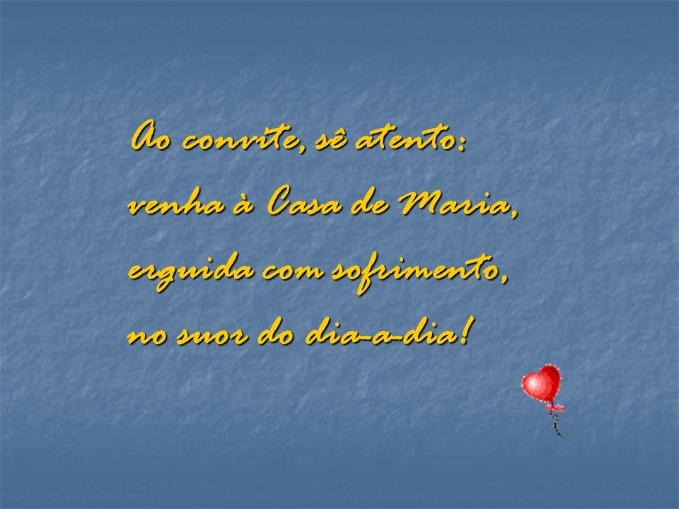 A luz do céu se irradia e indica em Rio Quente, uma Casa de Maria para ser do amor, semente!