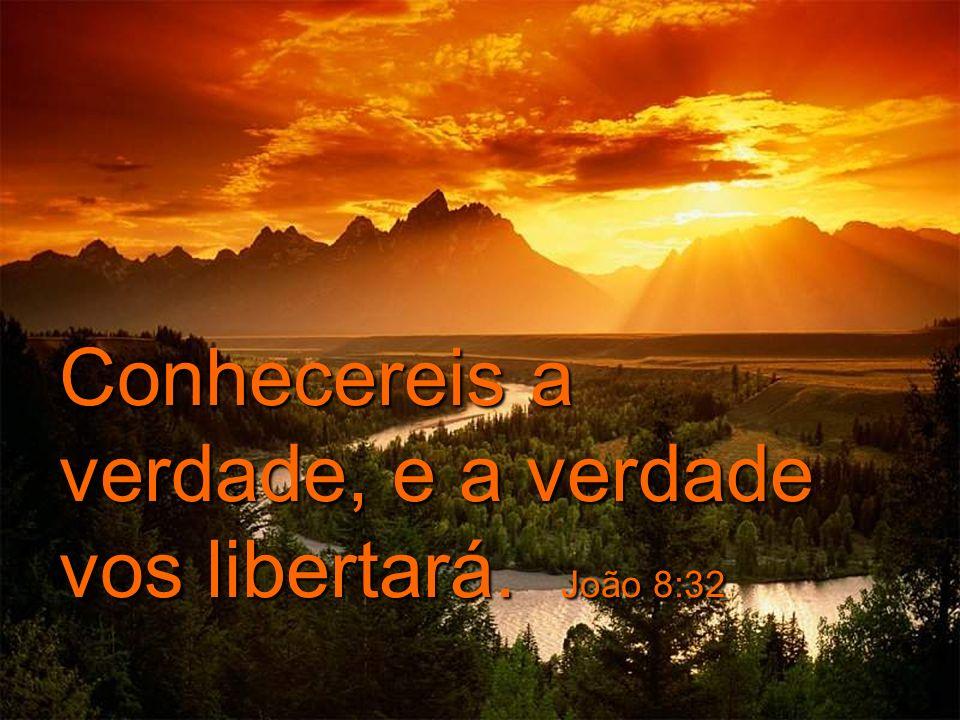 Conhecereis a verdade, e a verdade vos libertará. João 8:32