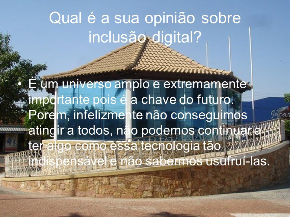 Qual é a sua opinião sobre inclusão digital.