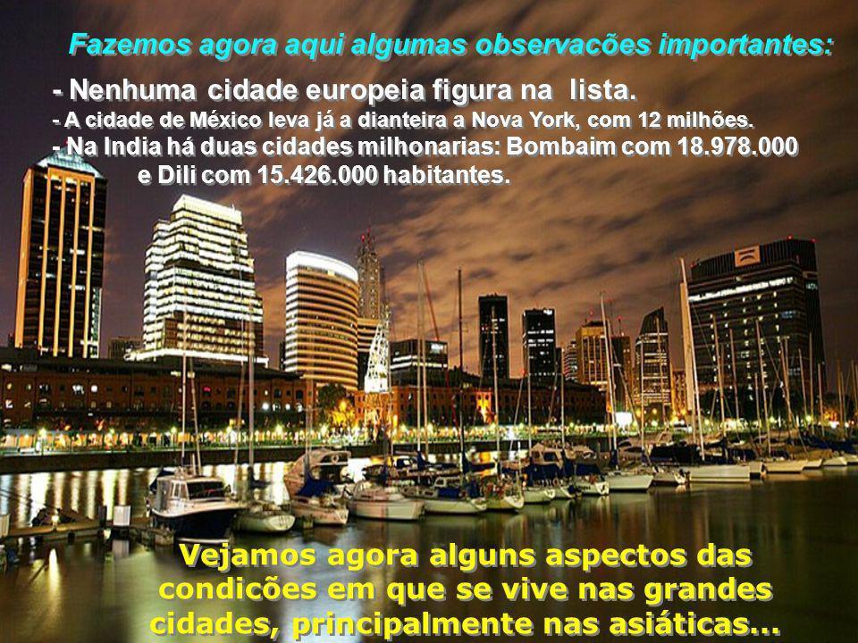 E a número DEZ é Buenos Aires, (Argentina) com 12.795.000 habitantes E a número DEZ é Buenos Aires, (Argentina) com 12.795.000 habitantes