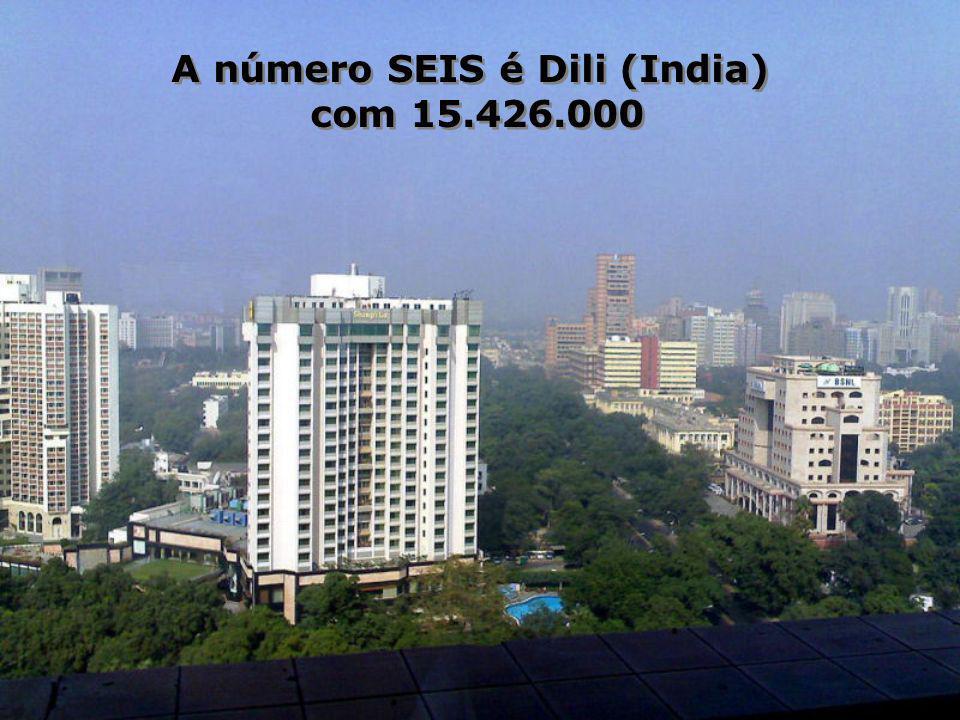 A número SEIS é Dili (India) com 15.426.000 A número SEIS é Dili (India) com 15.426.000