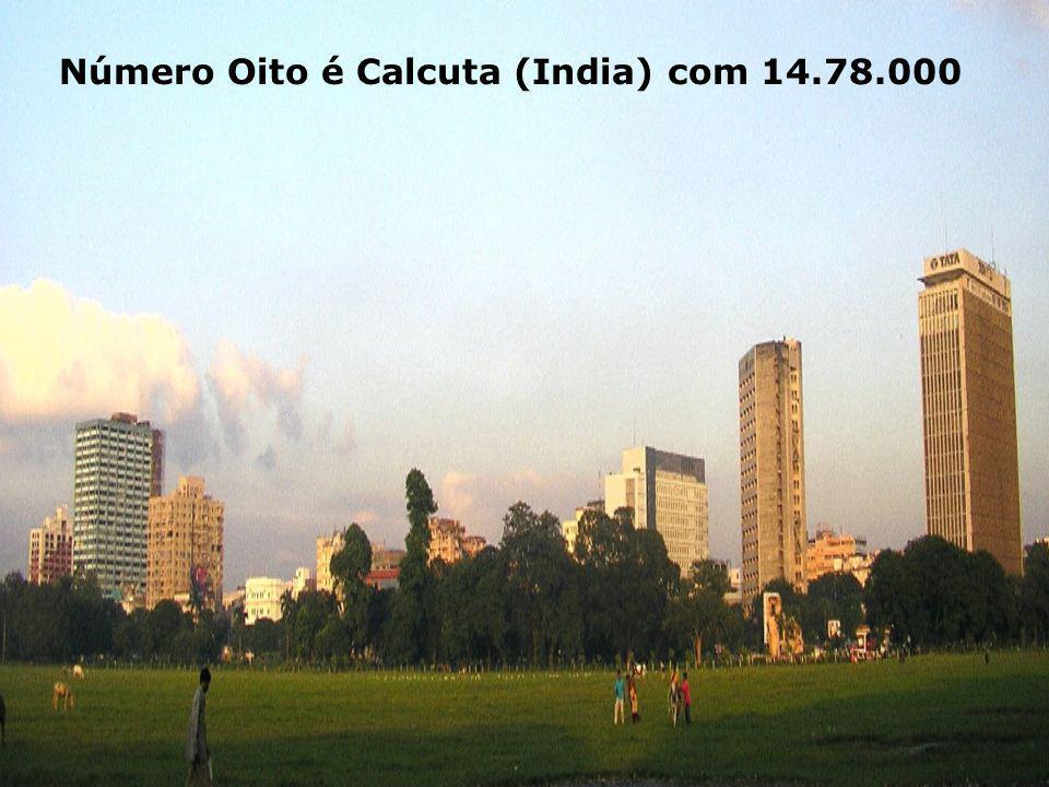 Número Oito é Calcuta (India) com 14.78.000
