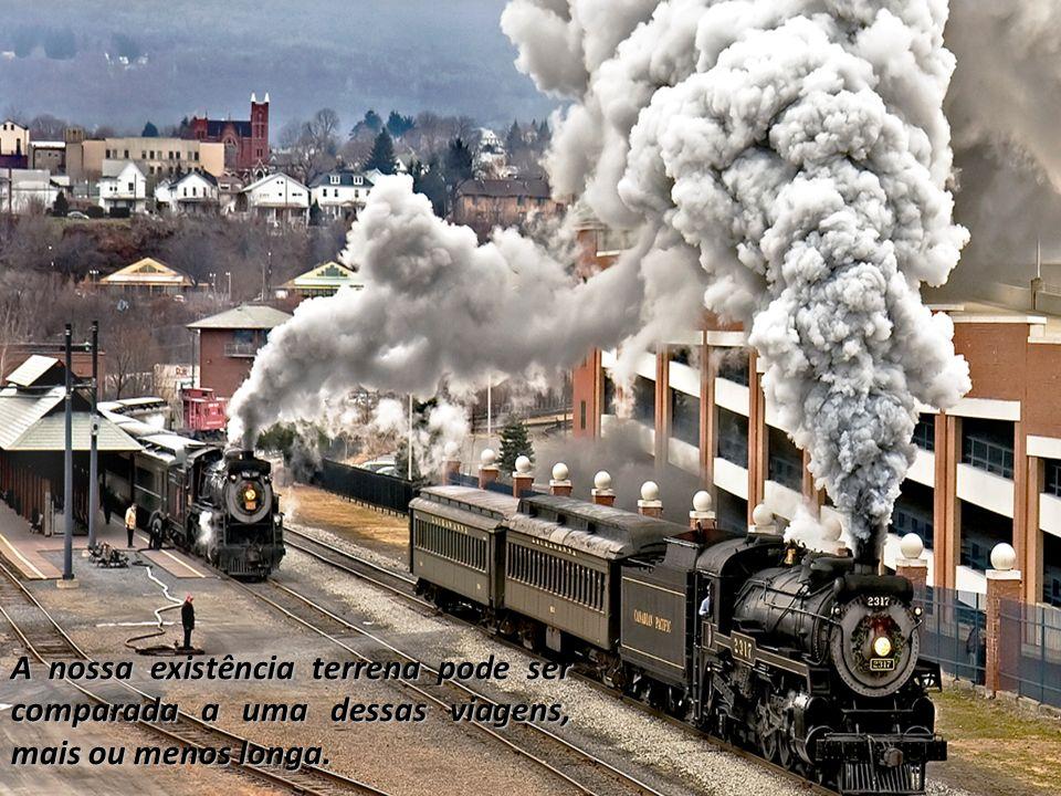 Numa viagem de comboio, ao longo do percurso, pode acontecer uma grande diversidade de situações.
