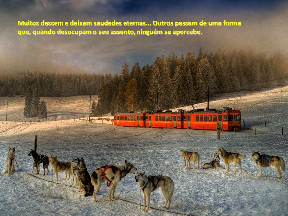 A viagem não é igual para todos. Alguns fazem dela um passeio, outros só vêem nela tristezas, e outros ainda circulam pelo comboio, prontos para ajuda