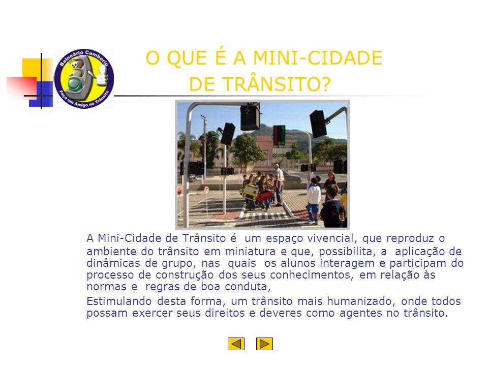 DESENVOLVIMENTO DAS ATIVIDADES O Projeto Mini-Cidade de Trânsito é desenvolvido em duas partes: a teórica e a prática.