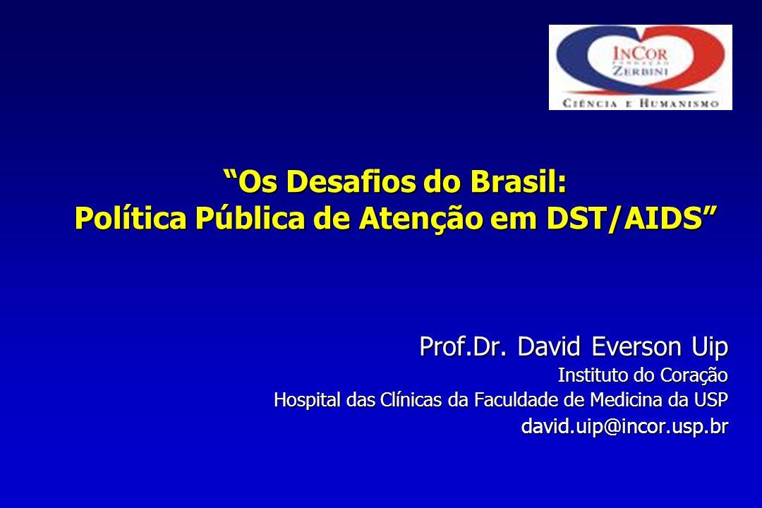 Os Desafios do Brasil: Política Pública de Atenção em DST/AIDS Prof.Dr.