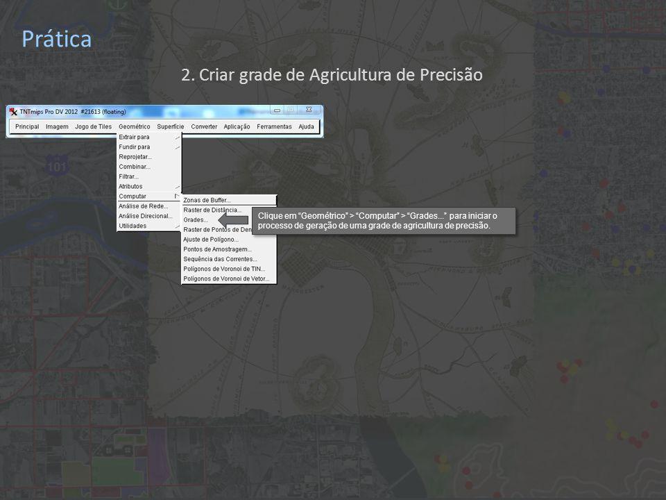 Prática Clique em Geométrico > Computar > Grades...