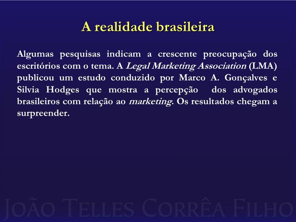 A realidade brasileira Algumas pesquisas indicam a crescente preocupação dos escritórios com o tema. A Legal Marketing Association (LMA) publicou um e