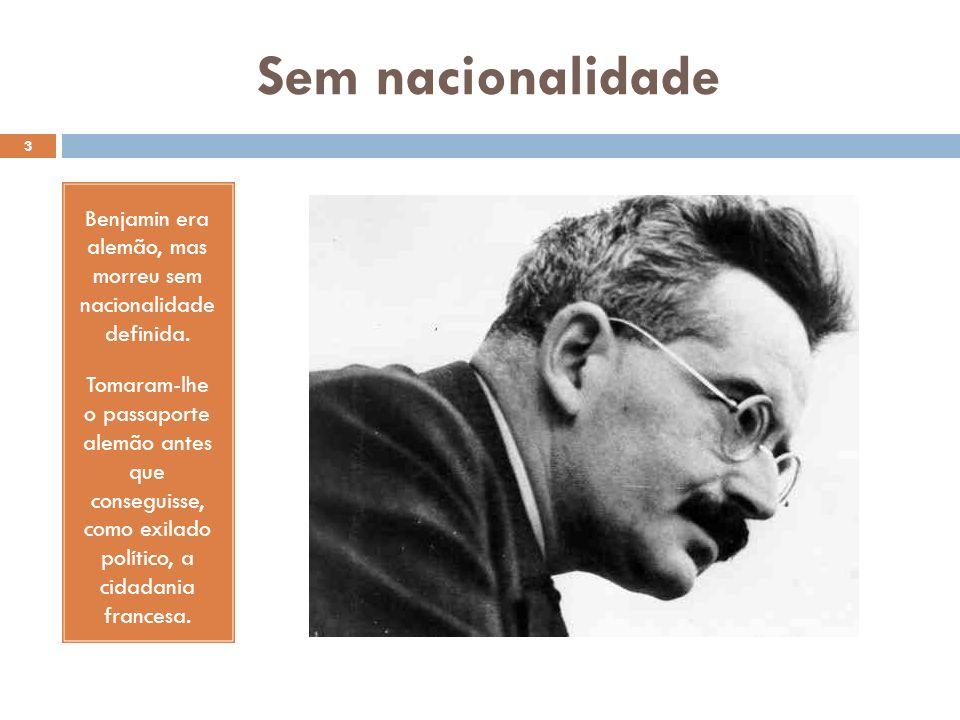 Perseguição nazista O nazismo o perseguiu duplamente, pois, além de judeu, era comunista. 4