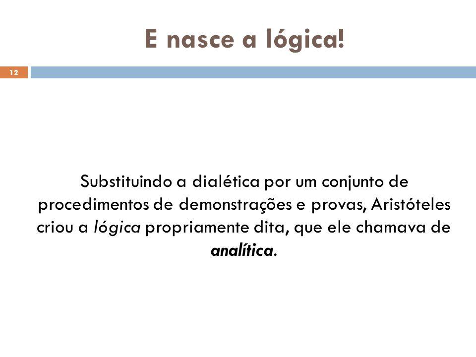 Qual a diferença entre a dialética platônica e a lógica (ou analítica) aristotélica.