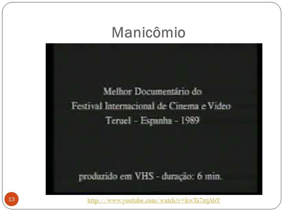 Manicômio http://www.youtube.com/watch?v=kwTa7ztjAbY 13