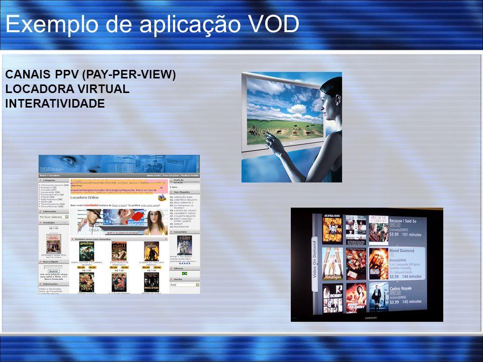 Exemplo de aplicação VOD CANAIS PPV (PAY-PER-VIEW) LOCADORA VIRTUAL INTERATIVIDADE