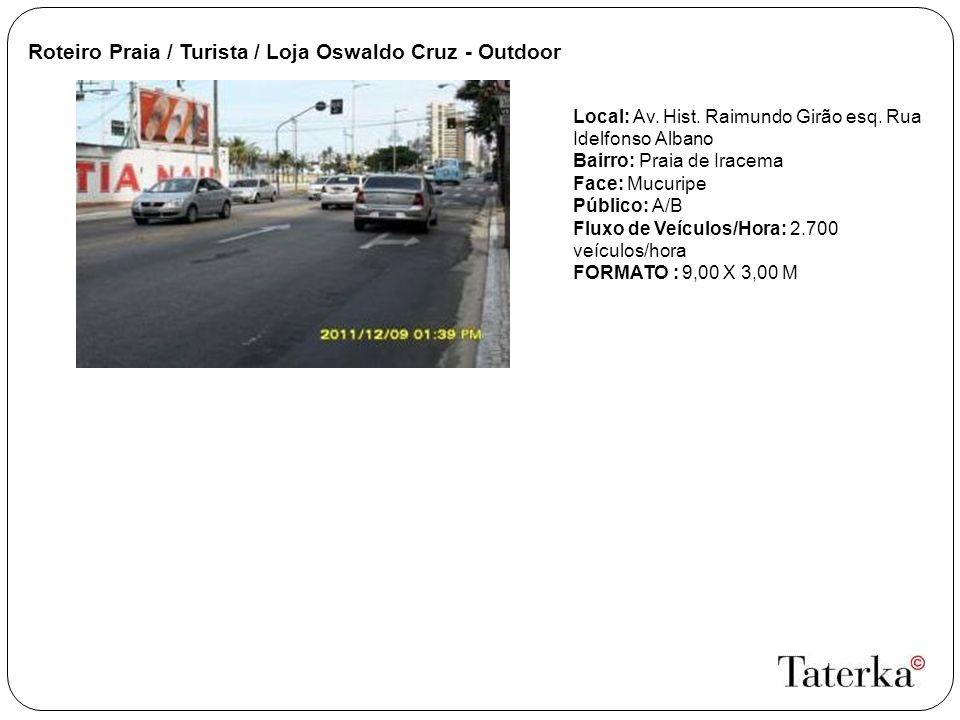 Roteiro Praia / Turista / Loja Oswaldo Cruz - Outdoor Local: Av.