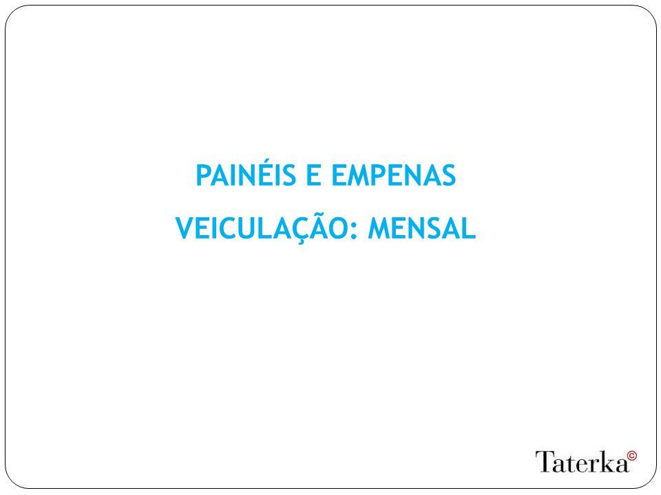 PAINÉIS E EMPENAS VEICULAÇÃO: MENSAL