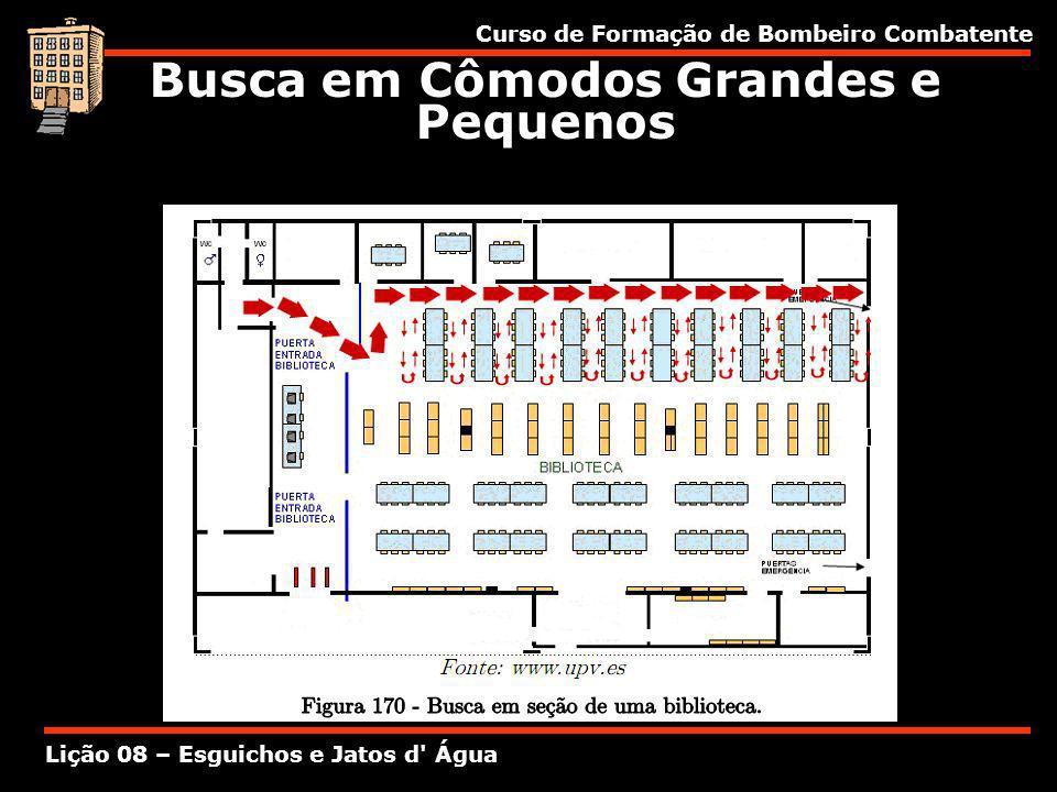 Curso de Formação de Bombeiro Combatente Lição 08 – Esguichos e Jatos d' Água Busca em Cômodos Grandes e Pequenos