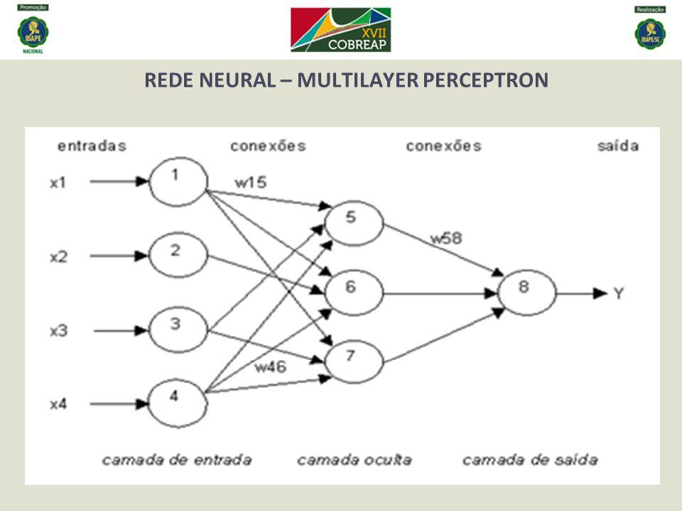 REDE NEURAL – FUNÇÕES DE ATIVAÇÃO E DE TREINAMENTO Função linear Função sigmóide logística Função de treinamento