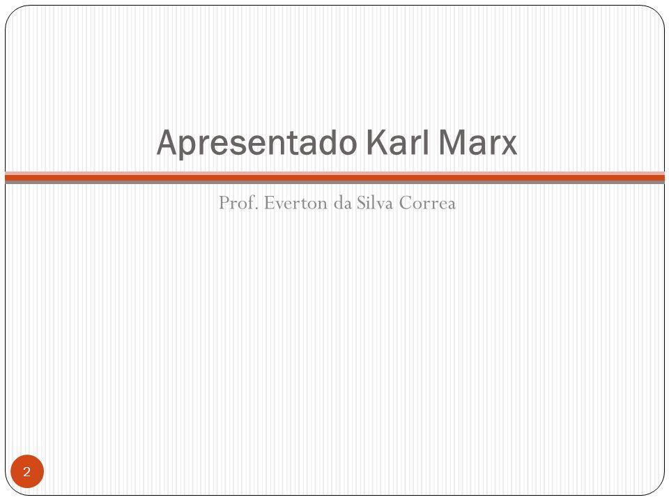 Apresentado Karl Marx Prof. Everton da Silva Correa 2
