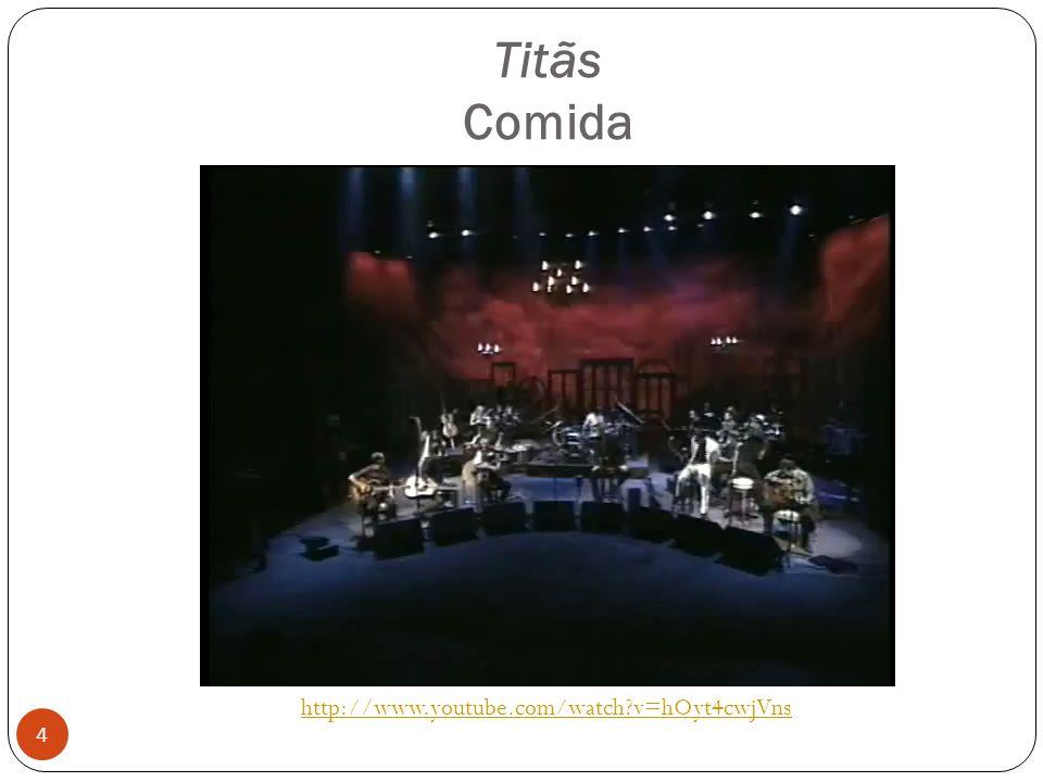 Titãs Comida 4 http://www.youtube.com/watch?v=hOyt4cwjVns