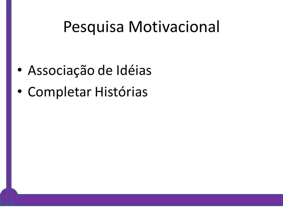Pesquisa Motivacional Associação de Idéias Completar Histórias