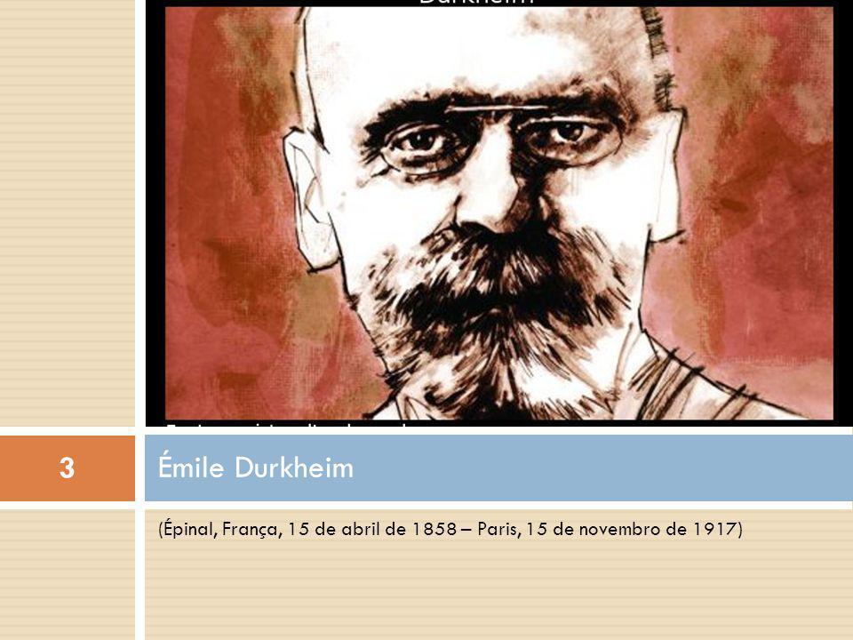 Pequena biografia 4 Émile Durkheim é considerado, ao lado de Karl Marx e Max Weber, um dos pais da sociologia.