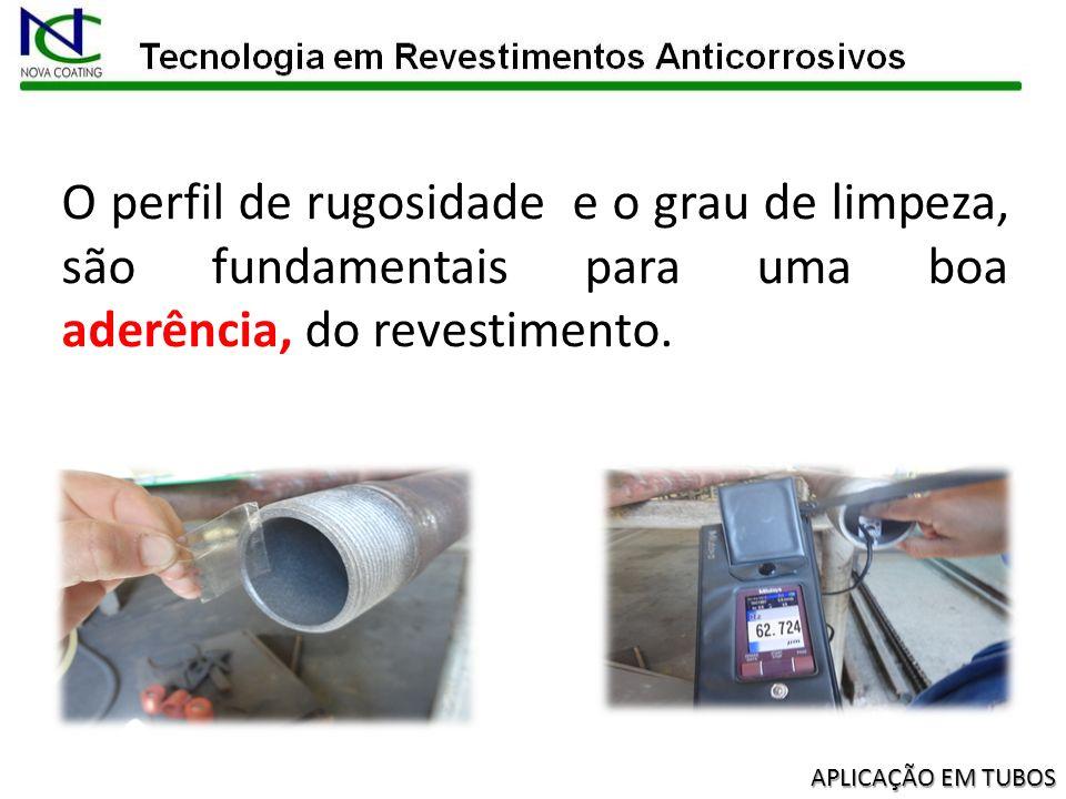 Após o jateamento, todos os tubos deverão receber um jato de ar e inspeção visual para então serem liberados para aplicação do revestimento.