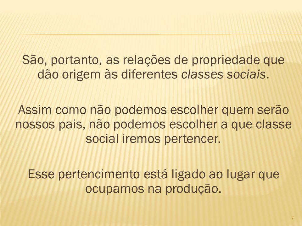 A base da ordem social de todas as sociedades reside na produção de bens, na organização econômica.