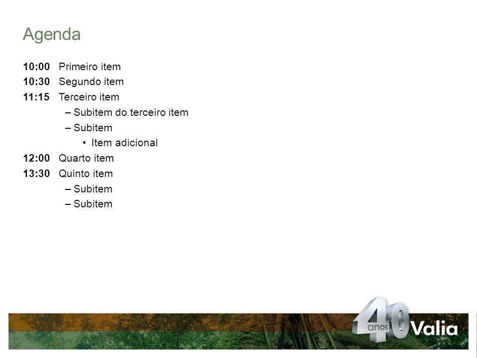 GRÁFICO DE CHAMADAS Pág.Título da apresentação – 01/12/2010 (opcional) Usar o gráfico de chamada para destacar informações importantes.