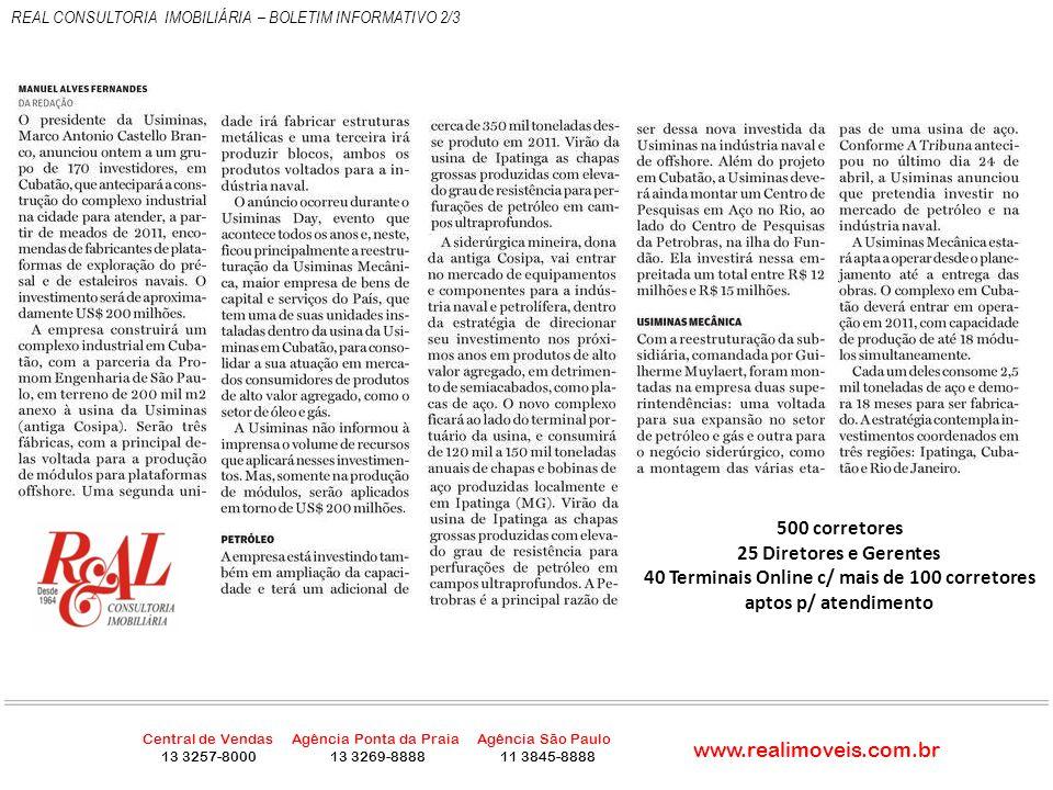 REAL CONSULTORIA IMOBILIÁRIA – BOLETIM INFORMATIVO 3/3