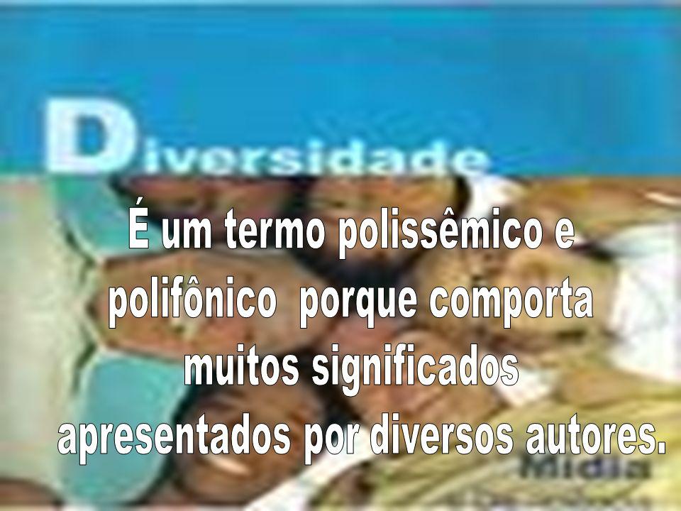 DIVERSIDADE É SINÔNIMO DE PLURALIDADE Pluralidade de iguais,segundo determinadas características Pluralidade de diferentes, segundo outras determinadas características.